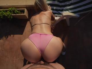 Boss fucks Big Boobs Bubble Butt PoolGirl in secret