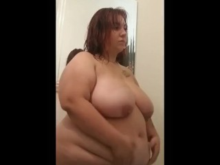 BBW Kayla Paolini boobs and belly play
