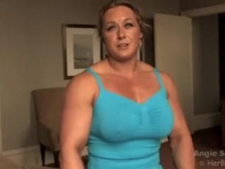 Big Boobs FBB with big biceps