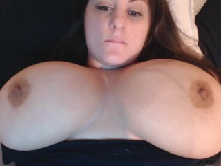 Playing with big boobs