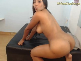 Young colombiana with big boobs on webcam
