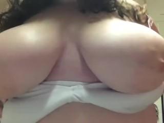 20yr old flashing big boobs at home