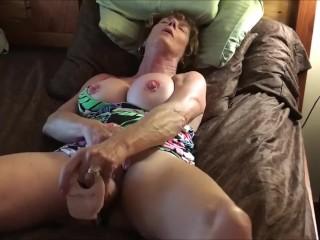 Milf With Big Boobs Masturbating To Orgasm