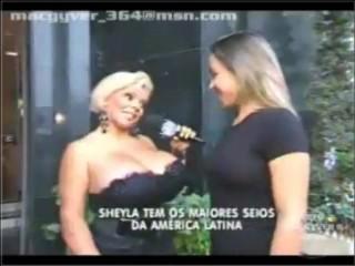 Sheyla big boobs TV breast expansion in public