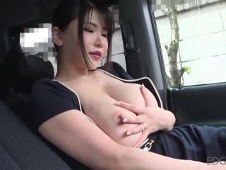Japanese Girl with no underwear visits you and shows her big boobs