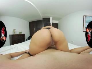 VRLatina - Very Cute Latin Teen With Big Ass Bedroom Sex - VR Experience