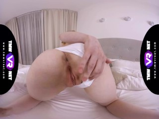TmwVRnet - Sweetie Plum - Long trip makes her pussy wet