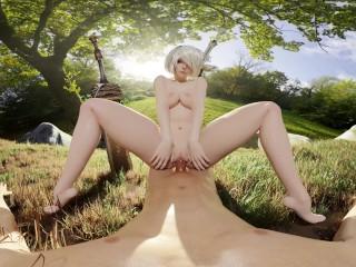 Nier: Automata 2B Cowgirl Pussy Spread Fuck VR 3D
