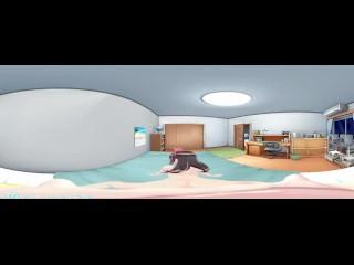 3D 4K VR 360 and 3D - Rear KizunaAI while Mimiku wiating her turn !?