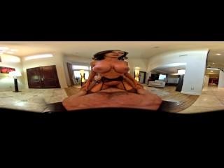 VR Nikki Benz rides big dick in POV 360 Virtual Reality experience