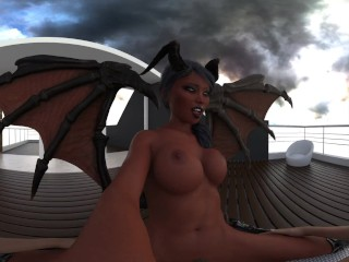 Succubus Grinds You Good on Halloween (CGI VR Hentai Animation)