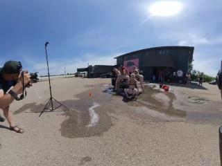 Bikini Car Wash and wet tshirt contest VR 3D