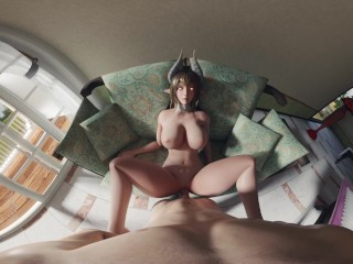 SUCCUBUS BLOWJOB IN A HOTEL [VR] [4K]