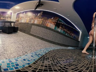 VR 360 Стриптиз в русской бане