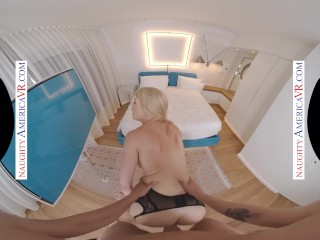 Naughty America - Blonde Porn Star Hottie, Kit Mercer, Fucks You In VR