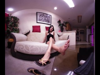 3D VR - Princess Maria Teasing Sandal Dangle - 4K ULTRA HD