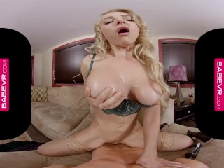 BaBeVR.com Credit Card Makes Big Titted Babe Alix Lynx Horny As Hell