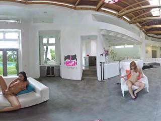 VR Bangers - [360° VR] 3 Crazy Hot Girls Striptease and Masturbate around u