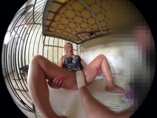 MARY IN PRISON - FINGERING AND SMOKING VR 180 degree