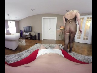 Nasty Slut Nikky Dream Takes A VR Bath And Performs Fishnet Anal Sex