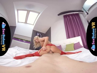 SexBabesVR - Red Stockings with Victoria Pure