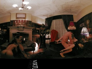 VR 360Colombian couple show hard fuck