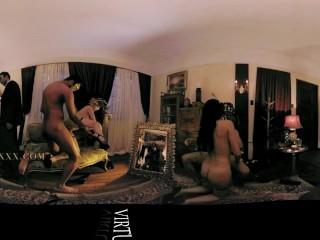 VR 360 big Colombian orgy. dancers get hardfuck