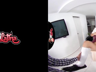 Samantha Schoolgirl Having Fun With The Principal VR Latina