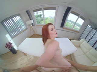 Massage By Redhead Teen Kaira Love And Sex Therapy For Your Stiff Dick