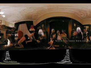 VR 360 three colombian women in lingerie hard fuck