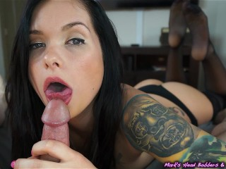 Up close and personal with Maria (2 blowjobs, 2 cumshots!!!)