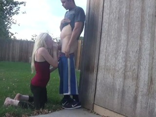 back yard blowjob - OurDirtyLilSecret