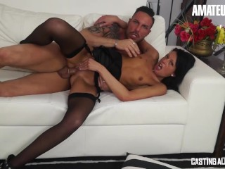 AmateurEuro - Petite Italian MOM Fucked Hard On The Casting Couch