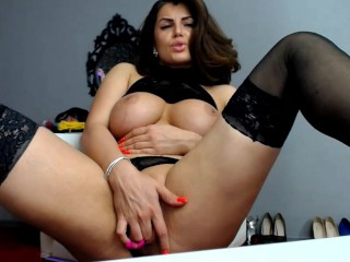 Italian Meaty Pussy and Big Tits on mfc Cam Babe Anna