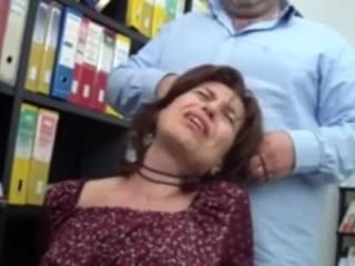 mature gets strangled with cord