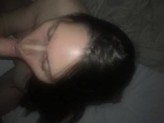Fucking the beautiful face of my gorgeous Italian wife