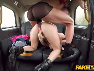 Fake Taxi Drivers son fucks Italian hottie on backseat