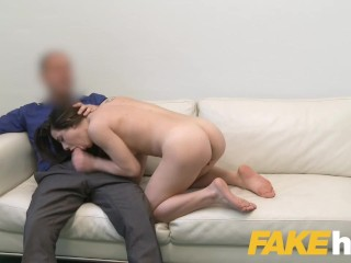 Fake Agent Hard desk fuck with petite Italian minx Giorgia Roma in casting