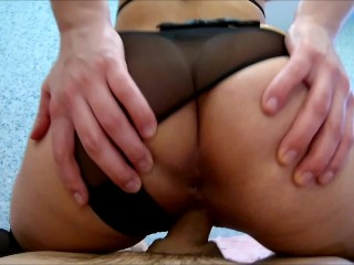 Easter with the Teacher of Magic: Cowgirl ,Blowjob, Cum on feet