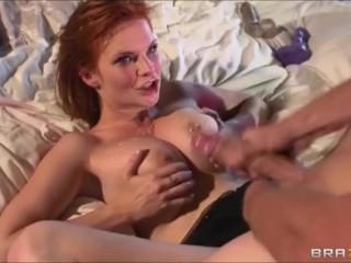 cumshots on tits compilation