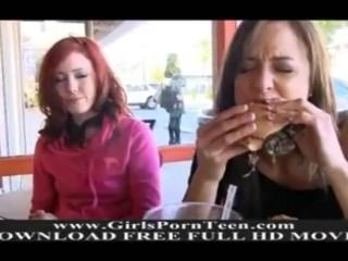 Elle and Malena hot lesbian amateur pussy