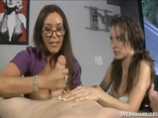 Pigtail pig and her hot big tit mom want a mouthful of hot cum