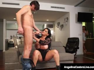 Latina BBW Angelina Castro fa 3Some con Roberta Gemma!