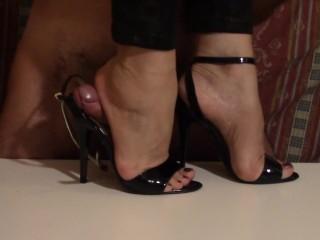 sandali neri sandali da ginnastica - eiaculazione