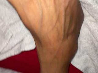 Moglie sega con i piedi sborrata wife footjob cum on soles