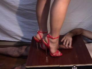 sandali rossi sandali scarpa-cazzuola da lavoro