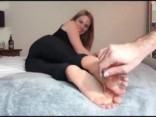 nice amateur feet tickling