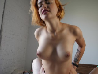 She jerks off my cock with her feet and then we fuck 4K