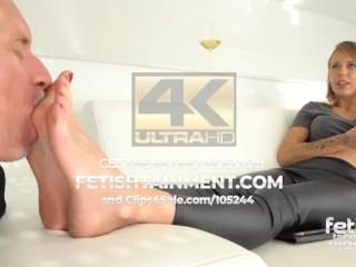 the ignored footslave licks my feet ! // FETISHTAINMENTcom