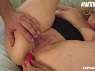 ScambistiMaturi - Chubby Italian Mature Gets Fucked Hard In Her Fat Pussy - AMATEUREURO